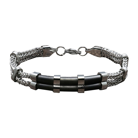 Minoxia Stainless Steel 8 Inch Box Link Bracelet