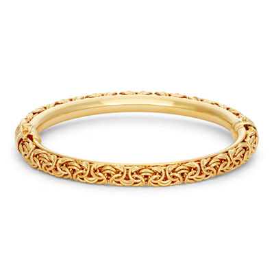 14K Gold Over Silver Bangle Bracelet