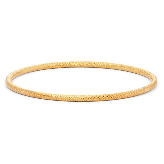 14K Gold Over Silver Bangle Bracelet