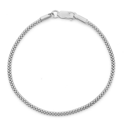 Sterling Silver 7.25 Inch Solid Link Chain Bracelet