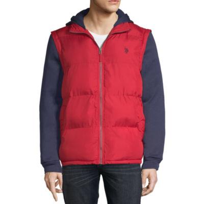 Us Polo Assn. Vest With Fleece Hood -Zip Off Sleeves