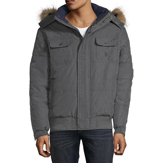 Us Polo Assn. Short Snorkel Jacket With Polar Fleece Lining