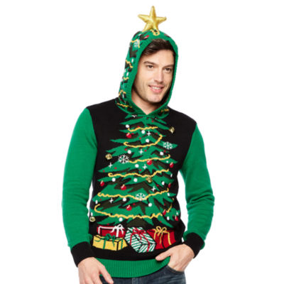 Ugly Christmas Tree Graphic Hoodie
