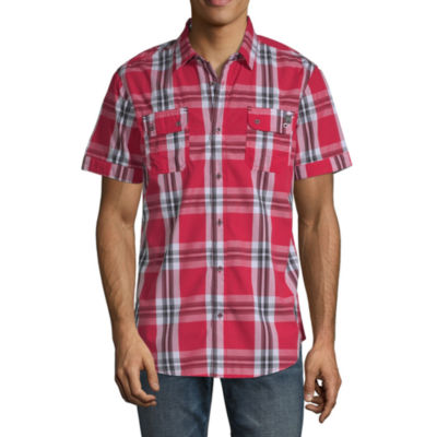 i jeans by Buffalo Test Short Sleeve Button-Front Shirt