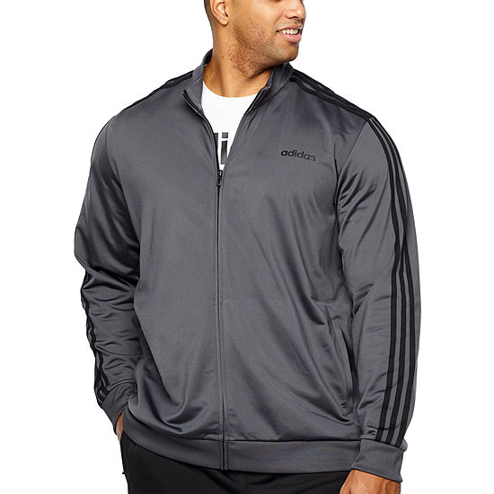 adidas Adidas Essential 3 Stripe Track Jacket Lightweight Track Jacket Big and Tall