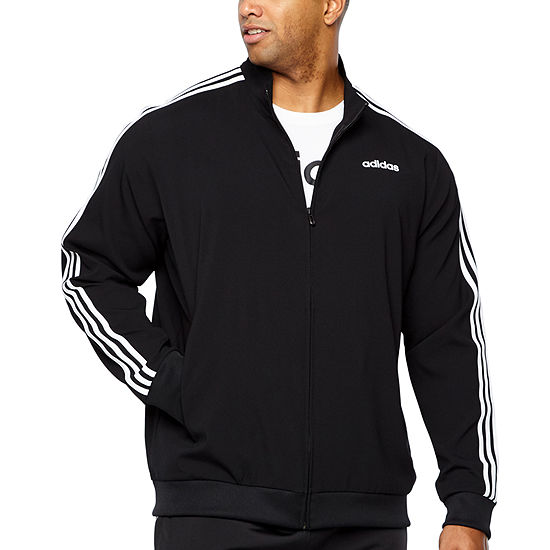 d6707f674 adidas Adidas Essential 3 Stripe Track Jacket Lightweight Track Jacket Big  and Tall - JCPenney