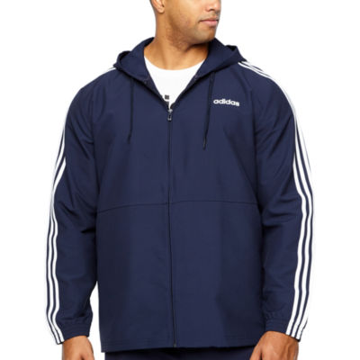 adidas Adidas Essential 3 Stripe Wind Track Jacket Lightweight Windbreaker Big and Tall