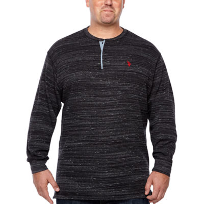 Us Polo Assn. Mens Y Neck Long Sleeve Thermal Top Big and Tall