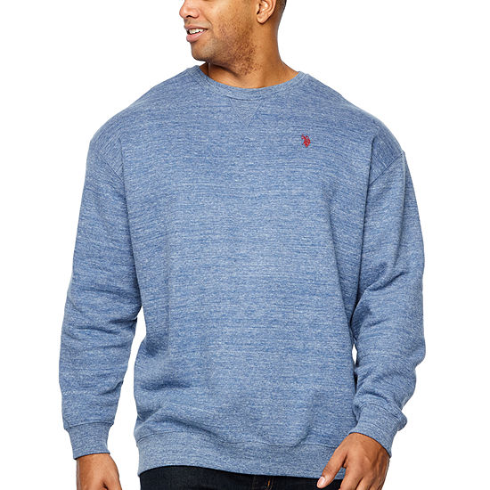 Us Polo Assn. Mens Y Neck Long Sleeve Sweatshirt Big and Tall