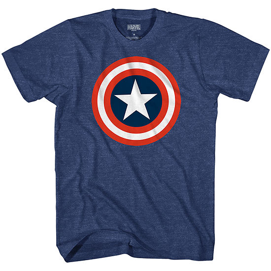 Mens Crew Neck Short Sleeve Avengers Graphic T-Shirt-Big and Tall