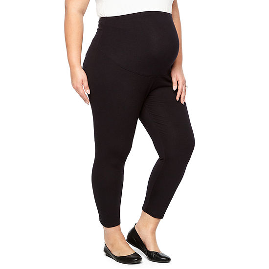 Belle & Sky Maternity Full Panel Crop Legging - Plus
