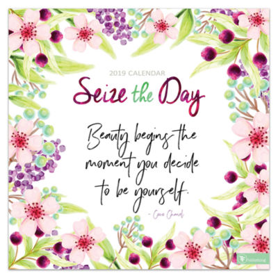 Tf Publishing 2019 Seize The Day Wall Calendar