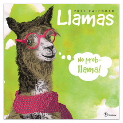 Tf Publishing 2019 Llamas Wall Calendar