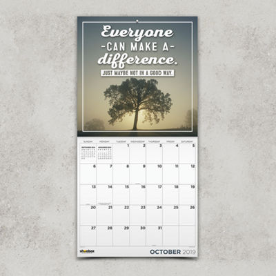 Tf Publishing 2019 Faux-Spirational By Shoebox Wall Calendar