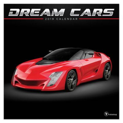 Tf Publishing 2019 Dream Cars Wall Calendar