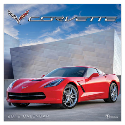 Tf Publishing 2019 Corvette Wall Calendar