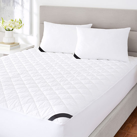 Queen Street Excellence 233 Thread Count Cotton Top Allergen Barrier Waterproof Mattress Pad