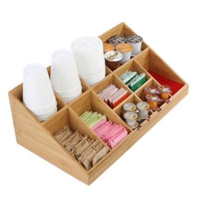 Mind Reader 11 Compartment Breakroom Coffee Condiment Organizer