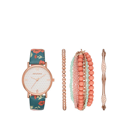 Arizona Womens Multicolor Watch Boxed Set Fmdarz168