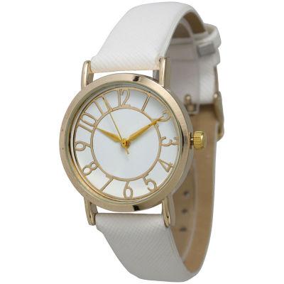 Olivia Pratt Unisex White Strap Watch-13395white