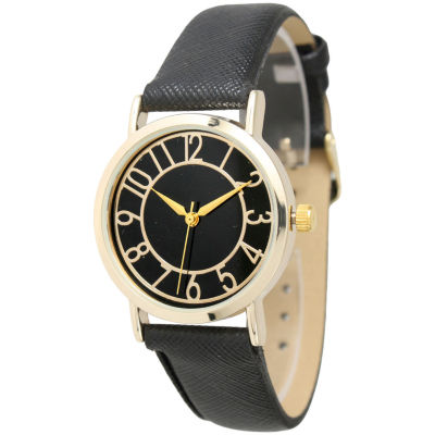 Olivia Pratt Unisex Black Bracelet Watch-13395black