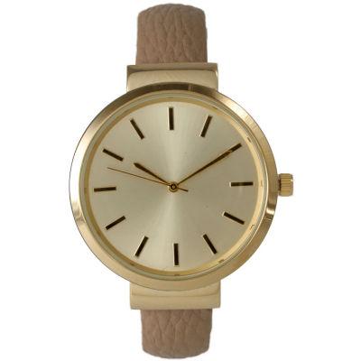Olivia Pratt Unisex Beige Strap Watch-514098