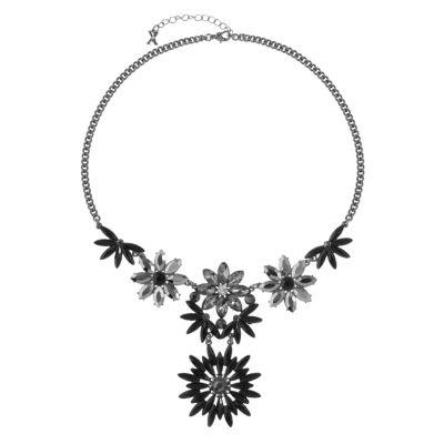 Mixit Womens Black Y Necklace