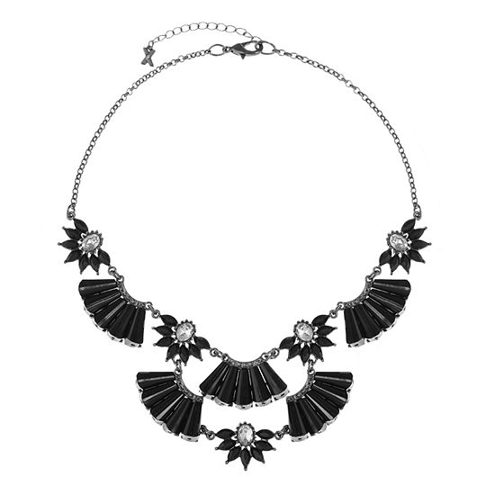 Mixit Black 17 Inch Cable Statement Necklace