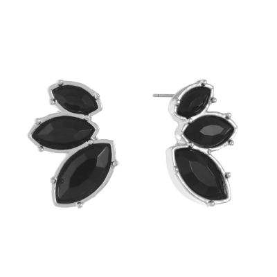 Mixit Black 20mm Stud Earrings