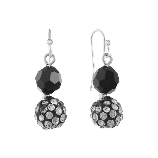 Mixit 1 Pair Black Drop Earrings