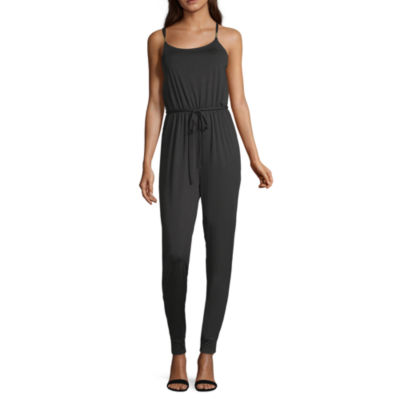 Almost Famous Sleeveless Belted Jumper-Juniors