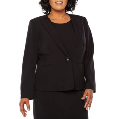 Black Label by Evan-Picone 1 Button Suit Jacket - Plus