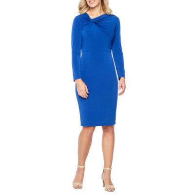 Liz Claiborne Long Sleeve Sheath Dress