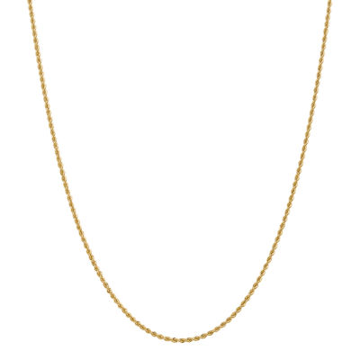 14K Gold 14 Inch Solid Rope Chain Necklace