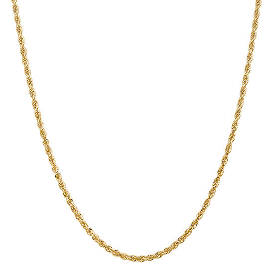 14K Gold 22 Inch Solid Rope Chain Necklace