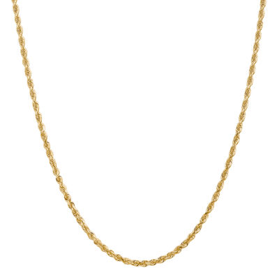 14K Gold 30 Inch Solid Rope Chain Necklace