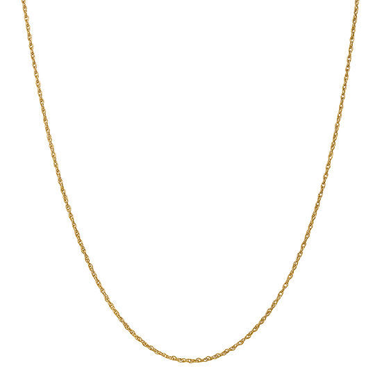 18K Gold Solid Rope Chain Necklace