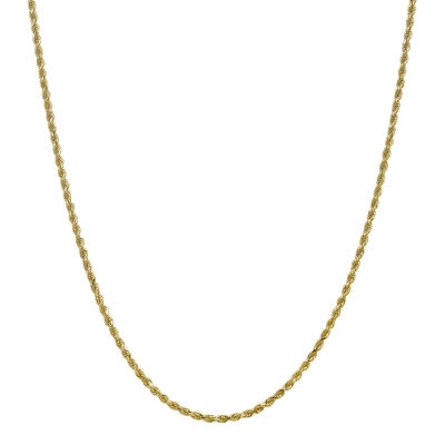 10K Gold 16 Inch Solid Rope Chain Necklace
