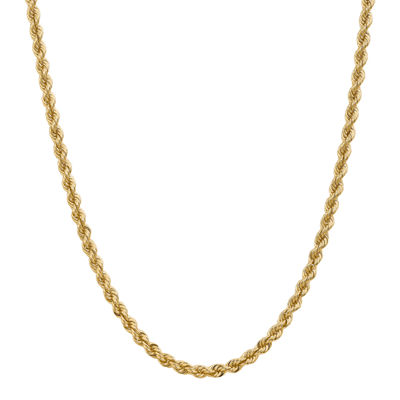 14K Gold 18 Inch Solid Rope Chain Necklace