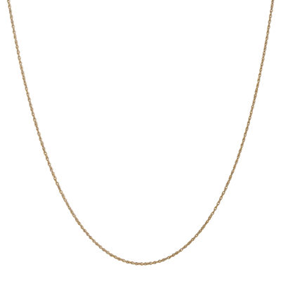 14K Gold Solid Rope Chain Necklace