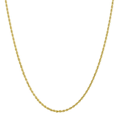 24 Inch Solid Rope Chain Necklace