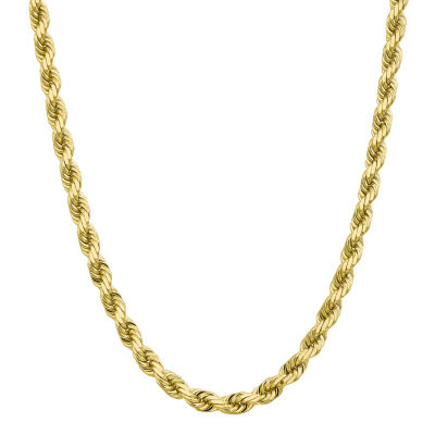 10K Gold Solid Rope Chain Necklace