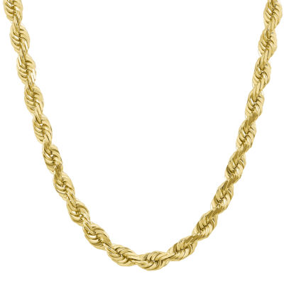 10K Gold 20 Inch Solid Rope Chain Necklace