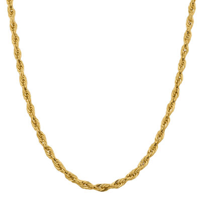14K Gold Semisolid Rope Chain Necklace