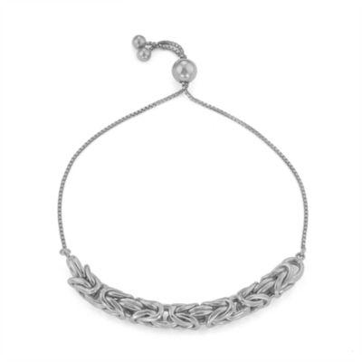 Sterling Silver 10 Inch Solid Byzantine Chain Bracelet