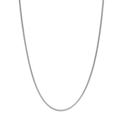 Sterling Silver 18 Inch Solid Box Chain Necklace