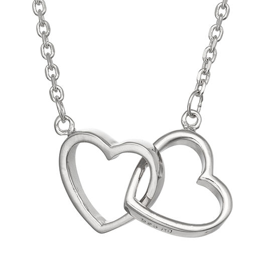 Unisex Adult Sterling Silver Heart Pendant Necklace