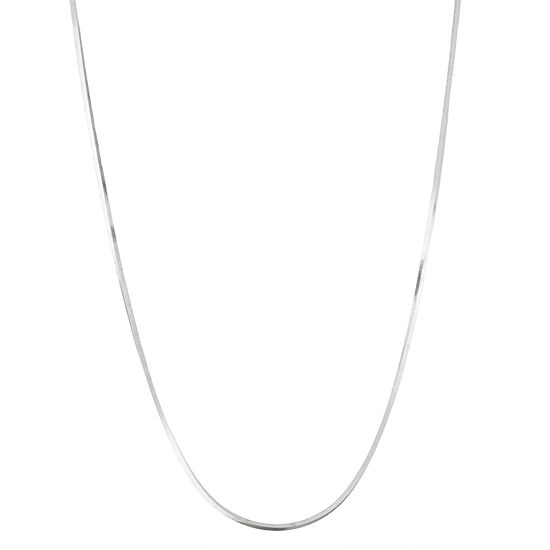 Sterling Silver 18 Inch Solid Snake Chain Necklace