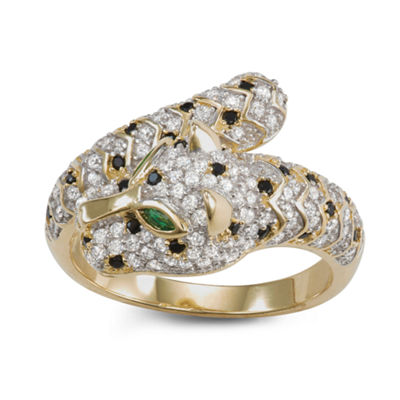 Womens 1 1/2 CT. T.W. White Cubic Zirconia 14K Gold Over Silver Cocktail Ring