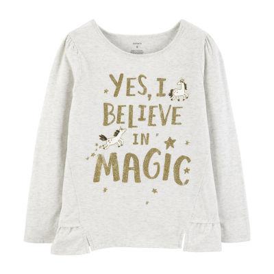 Carter's Glitter Magic Ruffle Tee - Preschool Girl